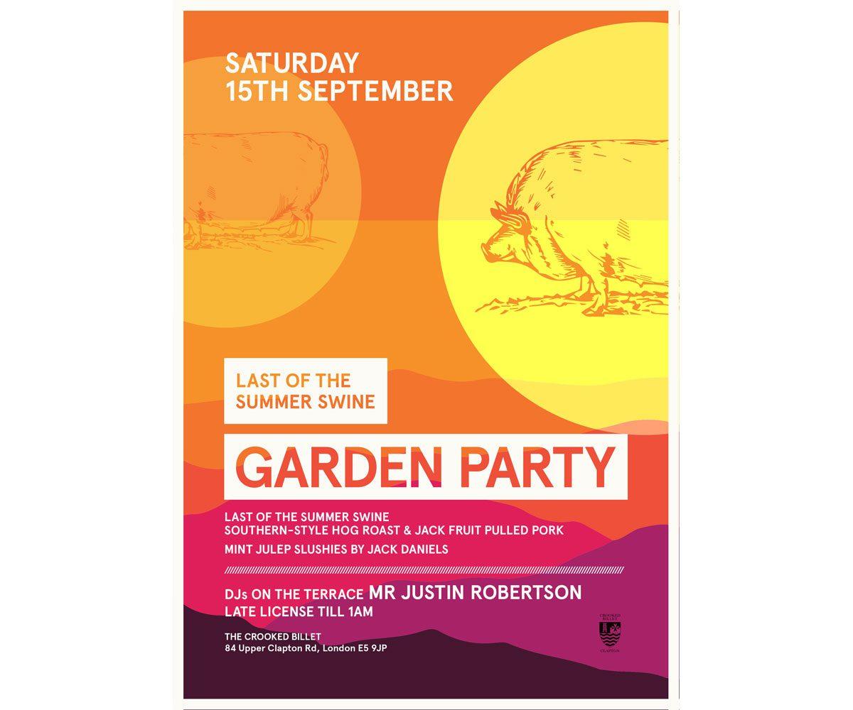 Last of the Summer Swine Garden Party