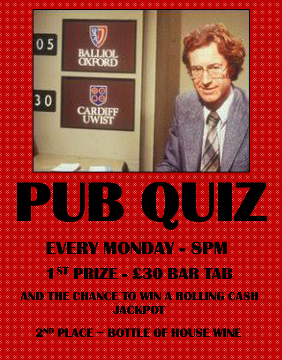 Pub Quiz at the Crooked Billet E5
