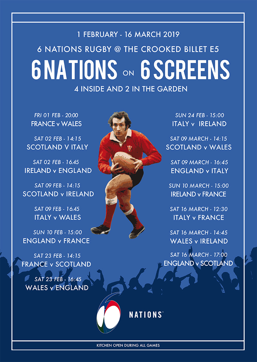 6 Nations at The Crooked Billet E5