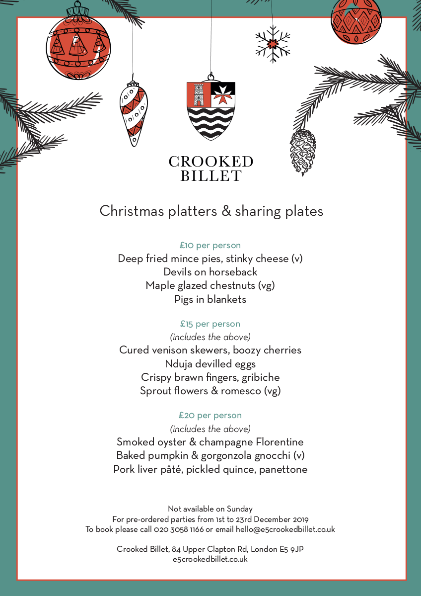 Crooked Billet Christmas Platters